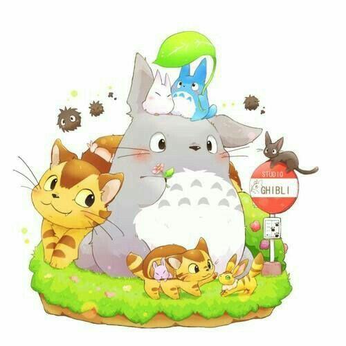My Neighbor Totoro Cute Bus Stop Text Studio Ghibli Ghibli
