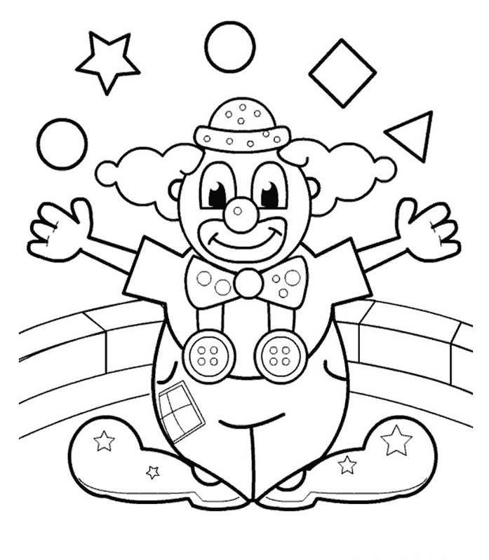 Karneval Der Tiere Ausmalbilder Zirkus Kunst Clown Handwerk Ausmalbilder