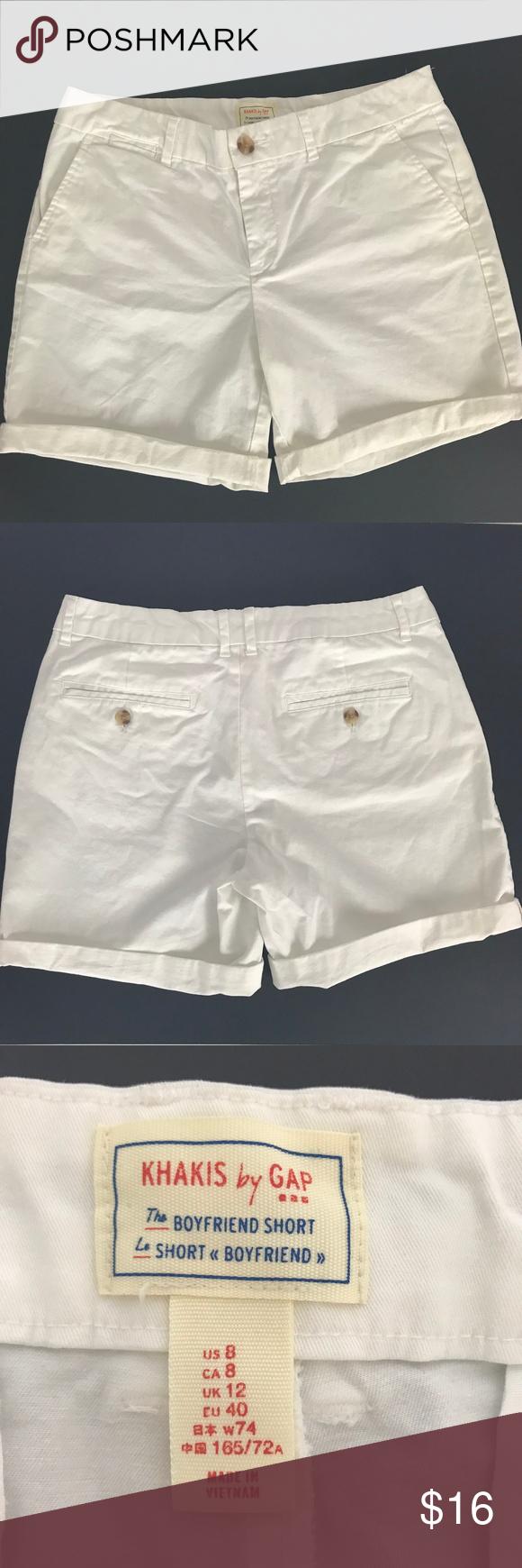 552460f756 Gap Womens Shorts Size 8 Boyfriend Short White Khakis By Gap Size 8 White  Cotton and
