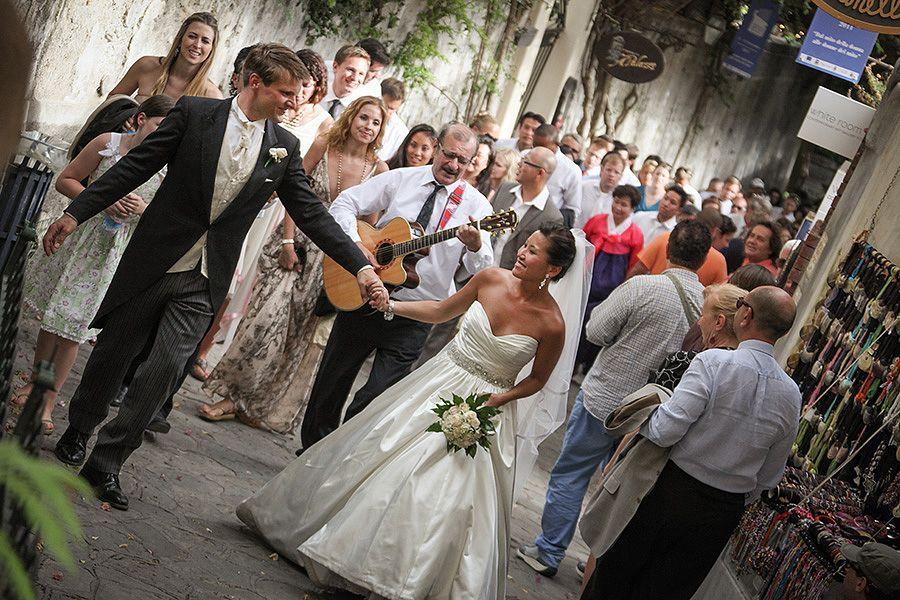 Italian wedding atmosphere