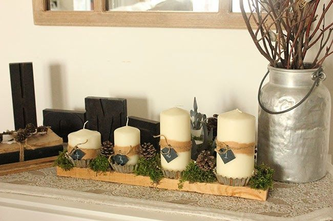 Home Shabby Home {Natale al verde}: Corona dell'Avvento DIY #sharenatalealverde
