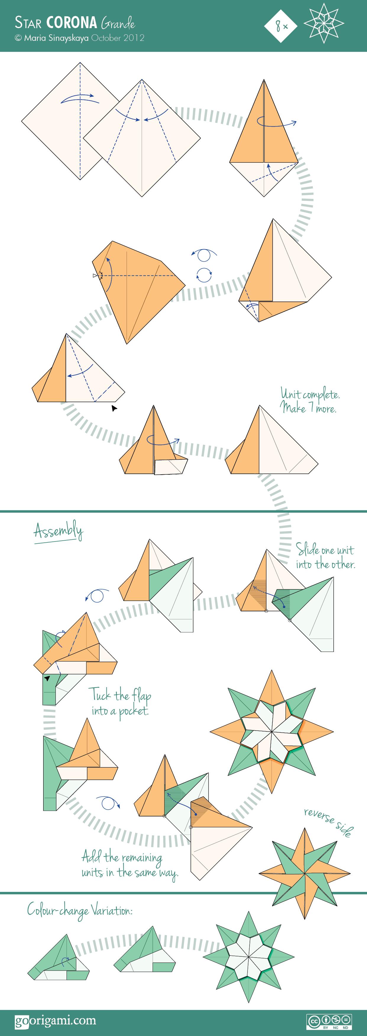 modulare origami sterne weihnachten basteln. Black Bedroom Furniture Sets. Home Design Ideas