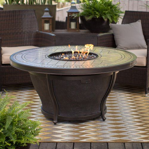 Agio Balmoral 48 In Round Fire Pit Table With Free Cover Fire Pits At Hayneedle Dimensions 48 Diam X 23 86h In Fire Table Fire Pit Round Fire Pit Table
