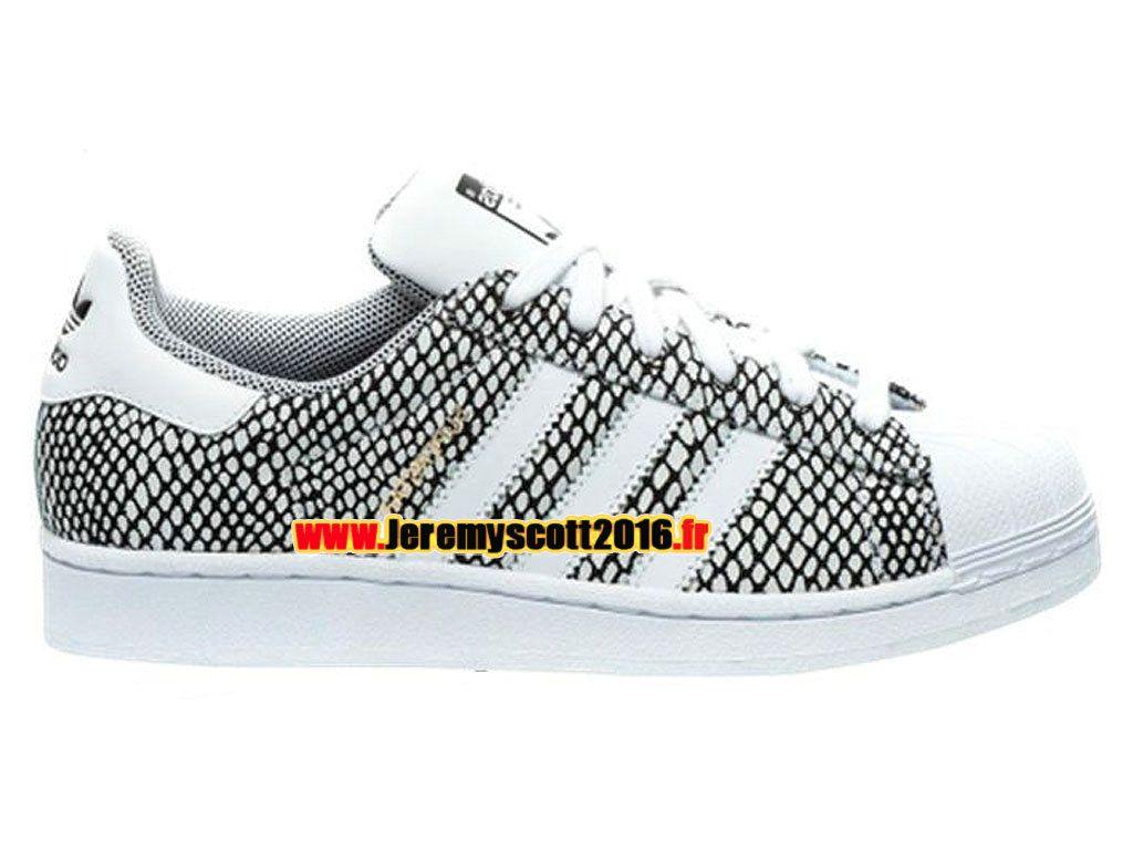 best sneakers 2032a 70e9d Adidas Originals Superstar - Chaussure Adidas Sportswear Pas Cher Pour Homme  Femme Gris Blanc S82731
