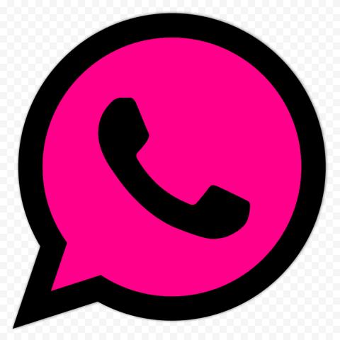 Hd Cerise Pink Black Wa Whatsapp Logo Icon Png Logo Icons Black Pink Cerise Pink