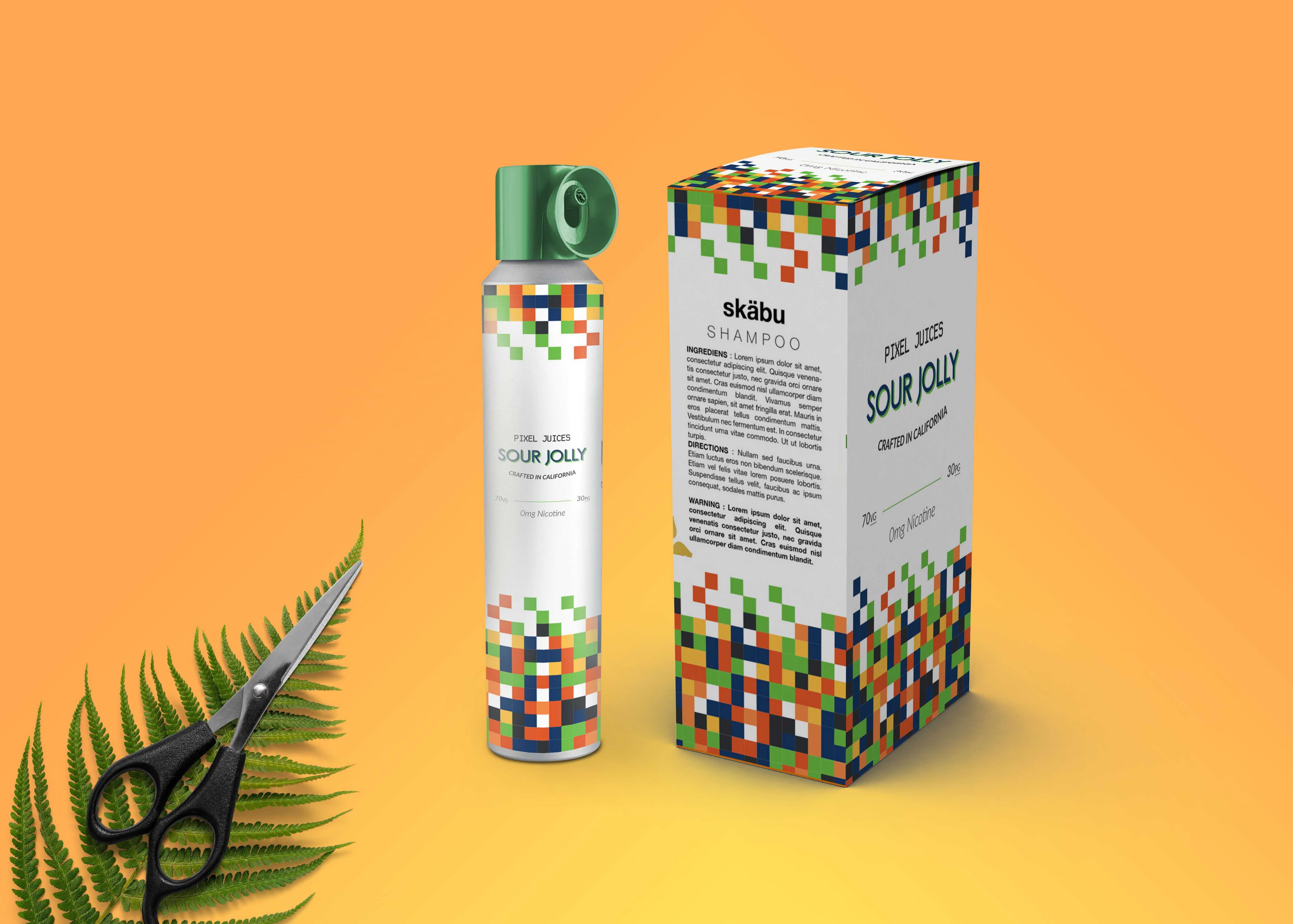 Salon Hair Oil Spray Bottle Label Mockup in 2020 Hair