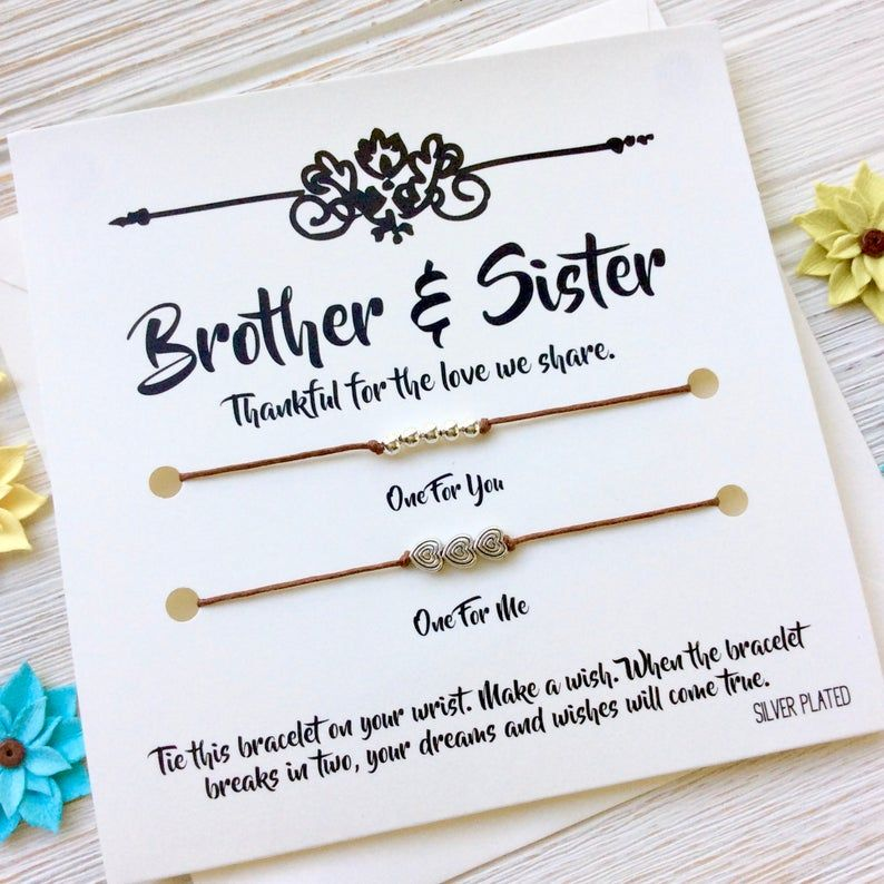 Brother sister gift brother sister gift bracelet brother