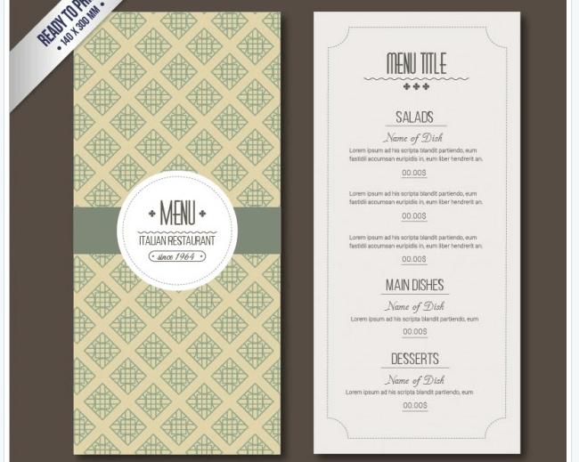 Vintage Speisekarten Vorlage Speisekarte Menu Vorlage Getrankekarte Hochzeit