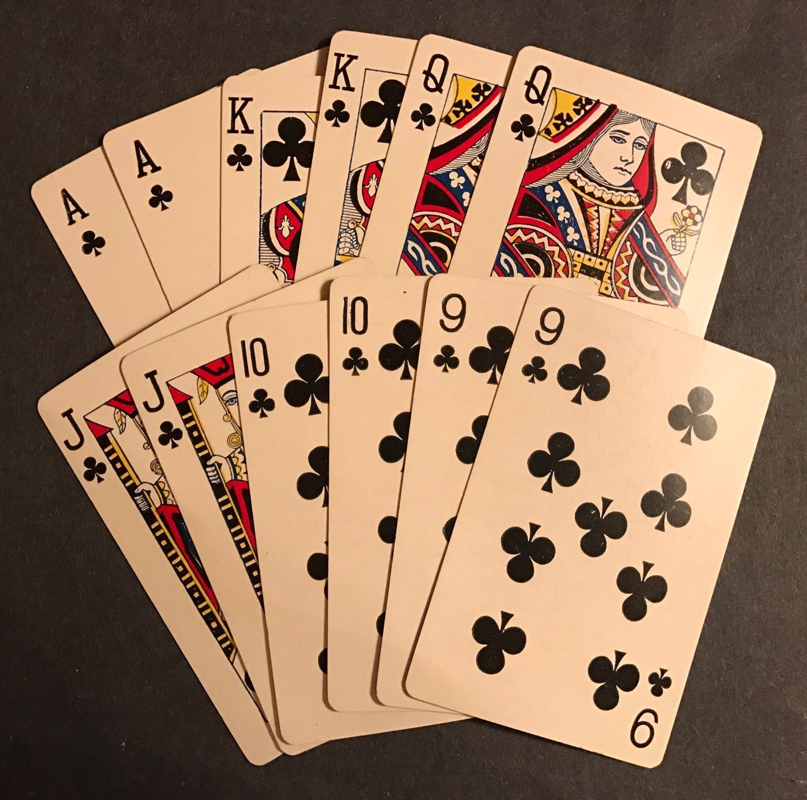 vintage antique ASTORIA PINOCHLE 48 PLAYING CARDS satin