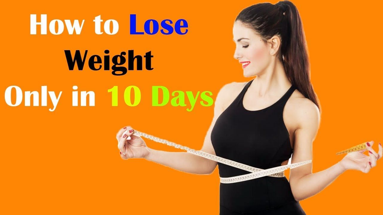 How to lose weight fast at home in a week without exercise