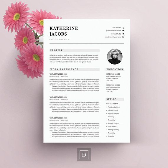 Resume Template with Cover letter and References - Professional CV