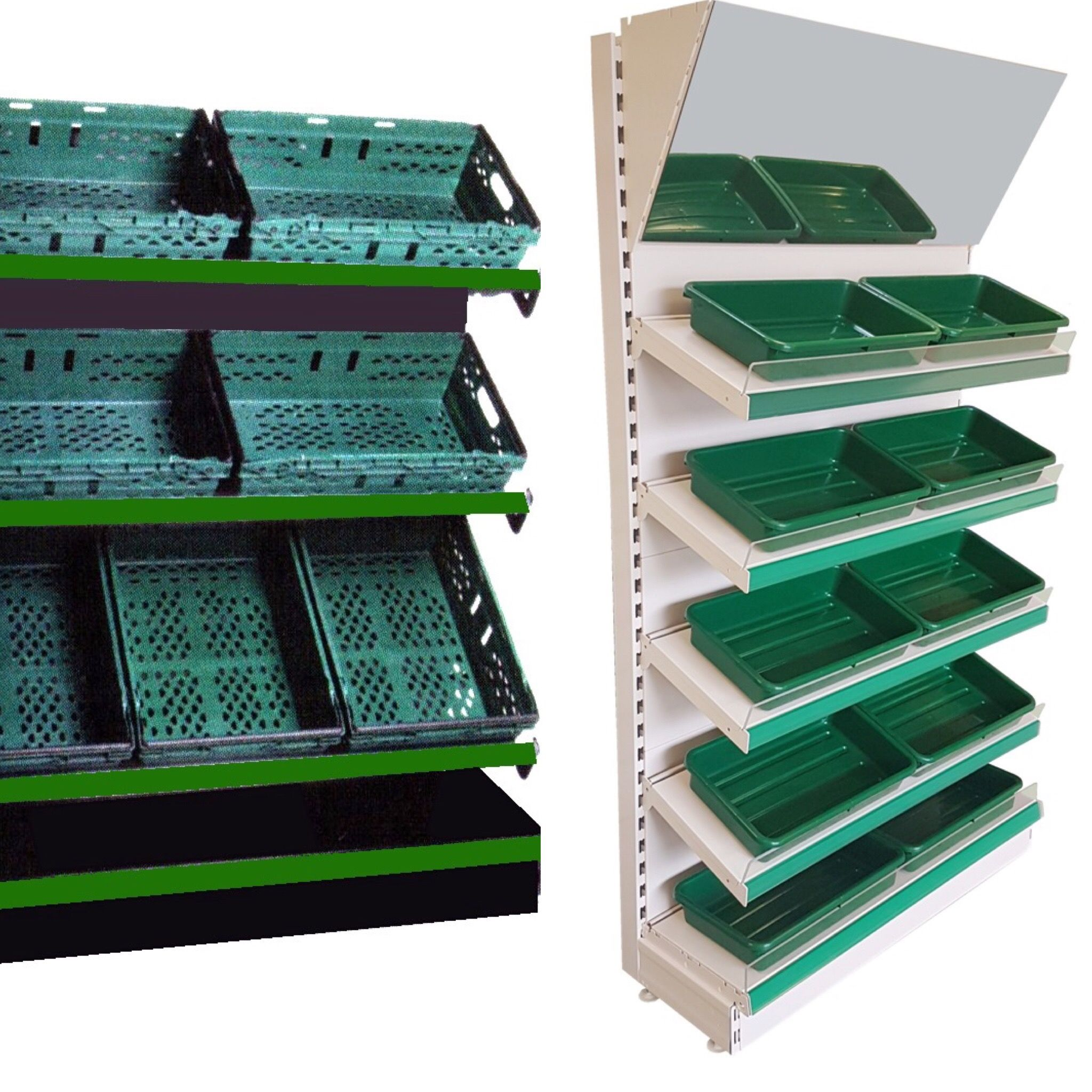 Fruit and vegetable shelving / heavy duty shelving display or ...