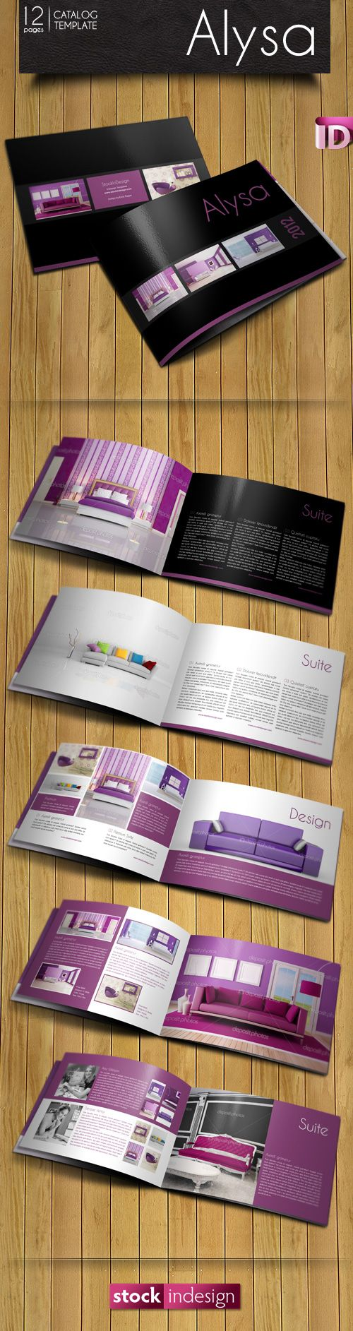 FREE InDesign Catalog Template: Alysa | Design inspirations ...