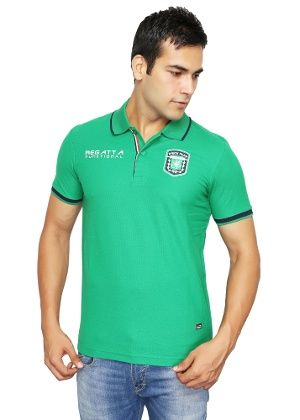 995624d8 Stardust Men's Polo T-shirt By Duke - Green | Funky T-Shirts | Mens ...