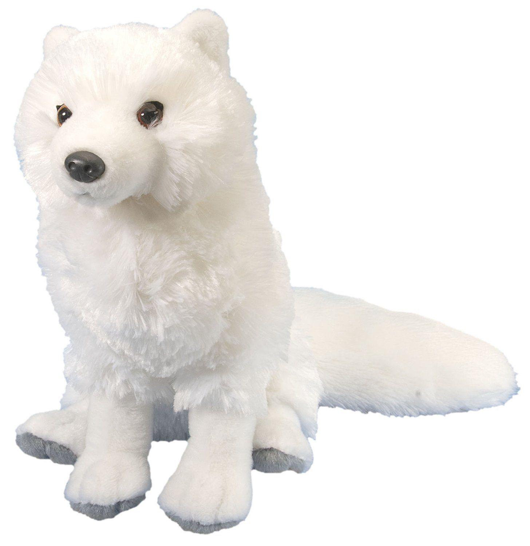 """Wild Republic Cuddlekin Arctic Fox 12"""" Plush"""
