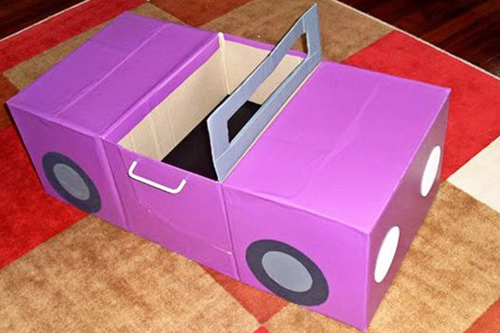 15 Fun Easy Cardboard Box Crafts For Kids Box Cardboard Box