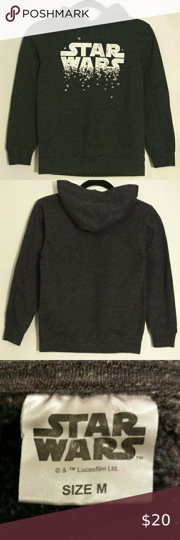 Star Wars Youth Black Heather Hoodie Sweatshirt M Sweatshirts Hoodie Clothes Design Star Wars Shirts [ 1740 x 580 Pixel ]
