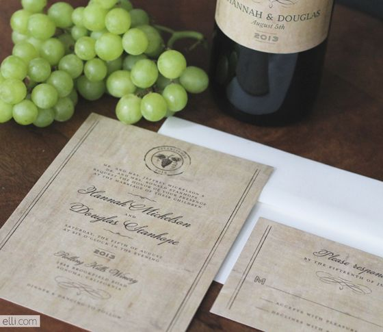 Winery Wedding Invitation Free Printable Wine Labels