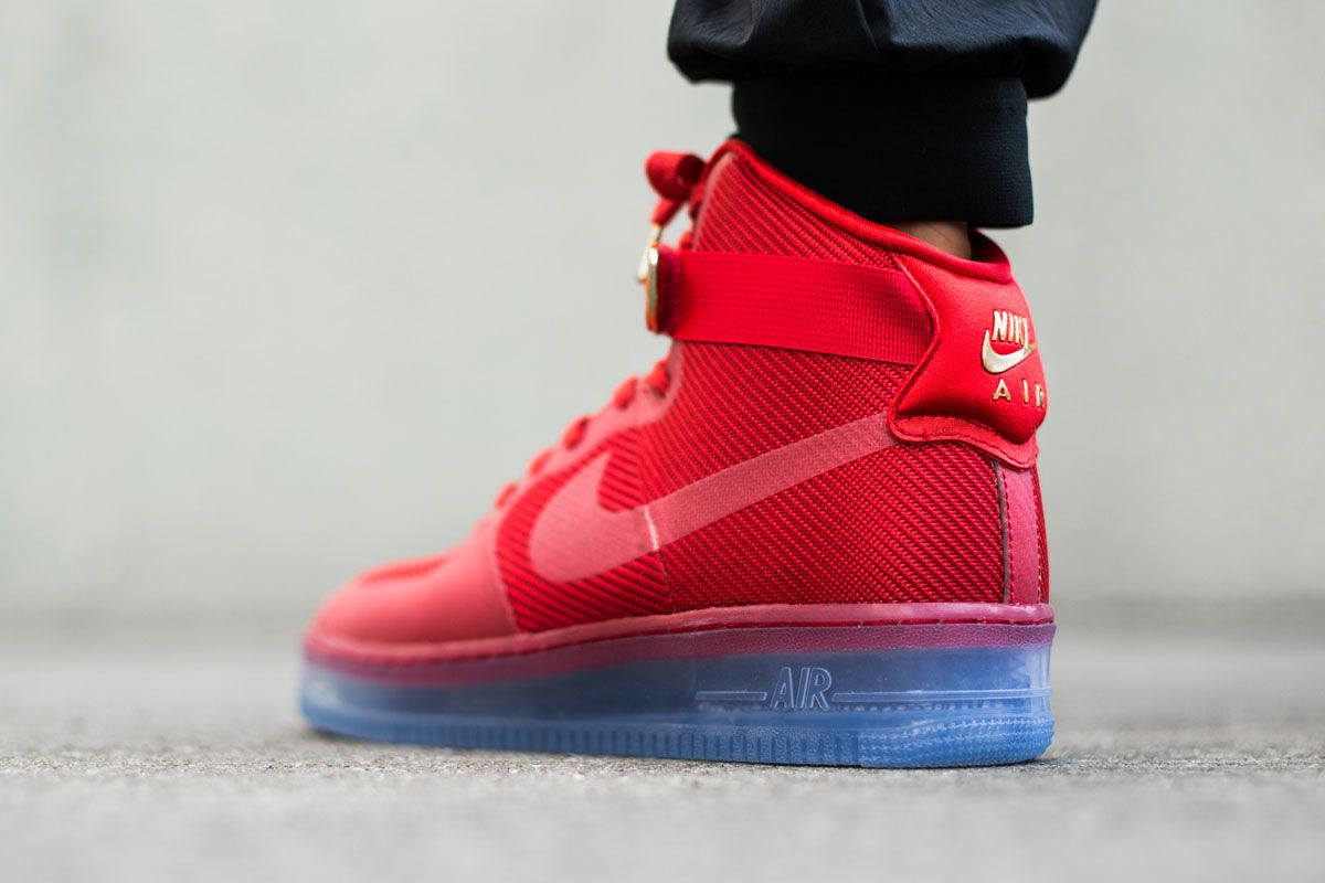 nike air force 1 boots red valentino