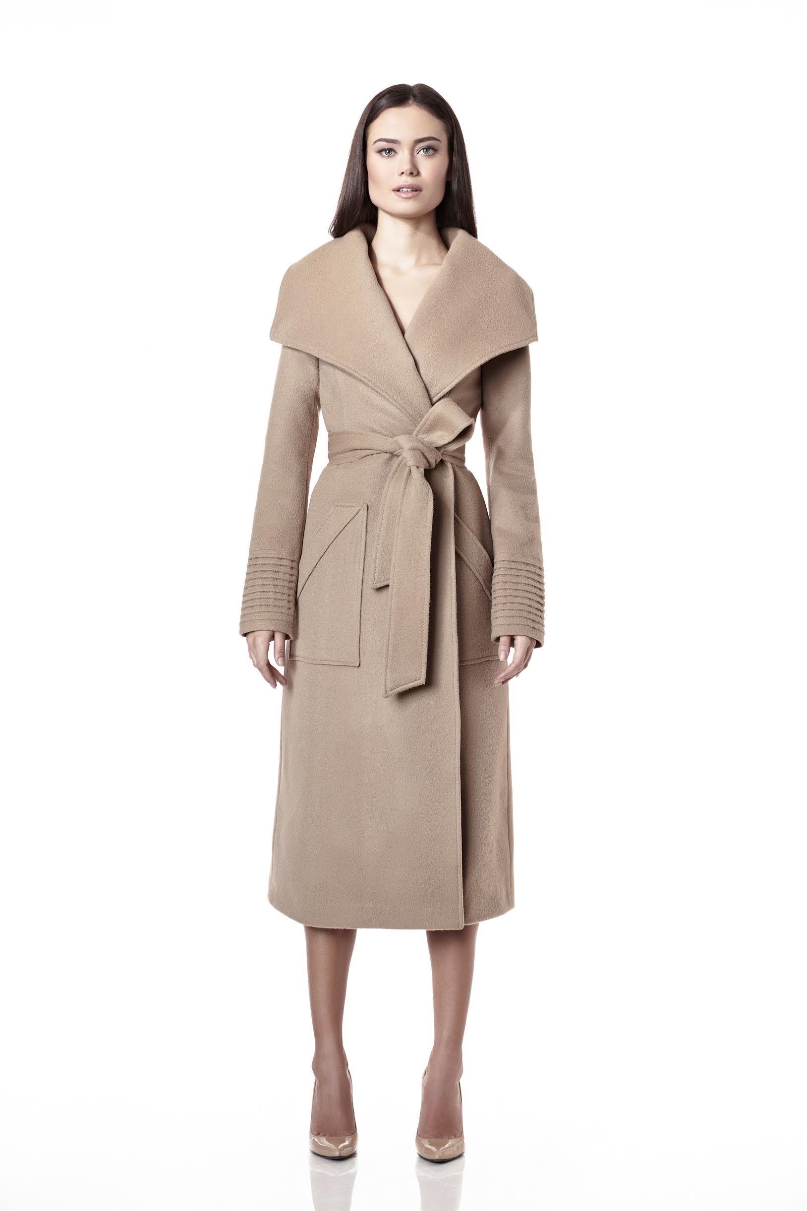 Long Wide Collar Wrap Coat  1198b2302d425