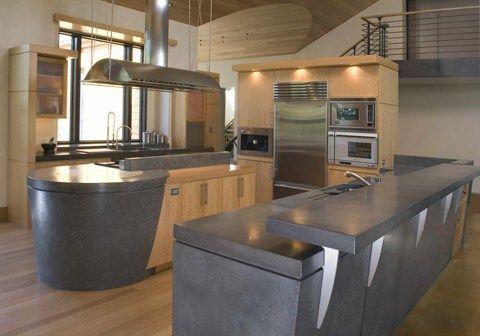 Cocina de Concreto Cocinas con Fuerza y Solidez Casas de hormigón