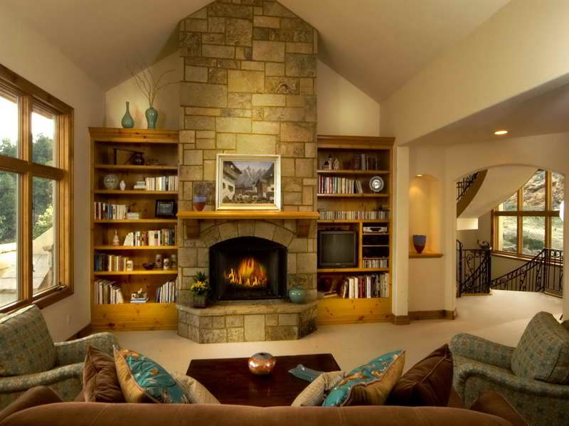 How to Build Built in Bookshelves with fireplace