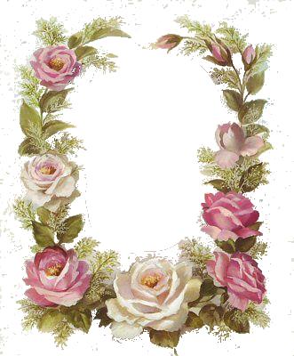 Vintage Floral Frame Floral Border Design Flower Frame Vintage Flowers