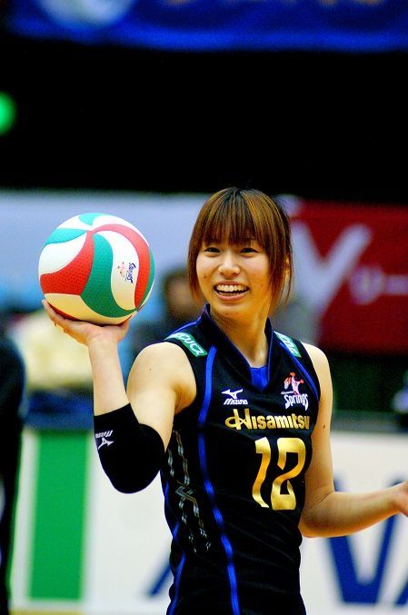 Risa Shinnabe Lisa Shinnanbu The Japanese Women S Volleyball Player Lisa Nickname Hisamitsu Spri Volleyball Players Japanese Women Football And Basketball