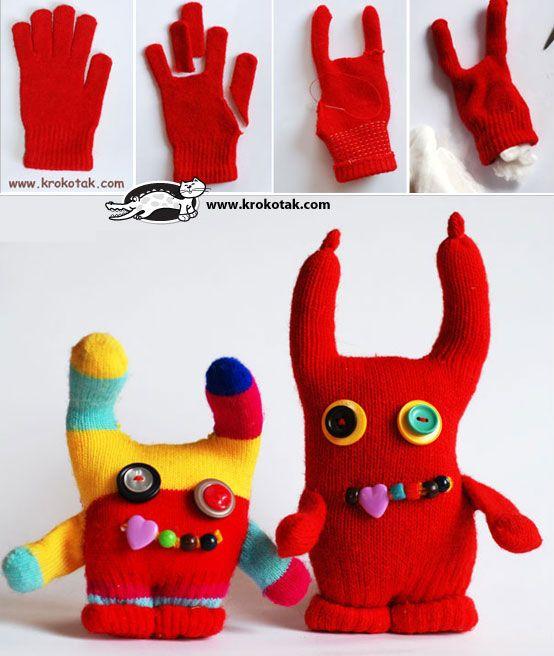 Handschuh Monster Spielzeug Nähen Basteln Mit Socken Und