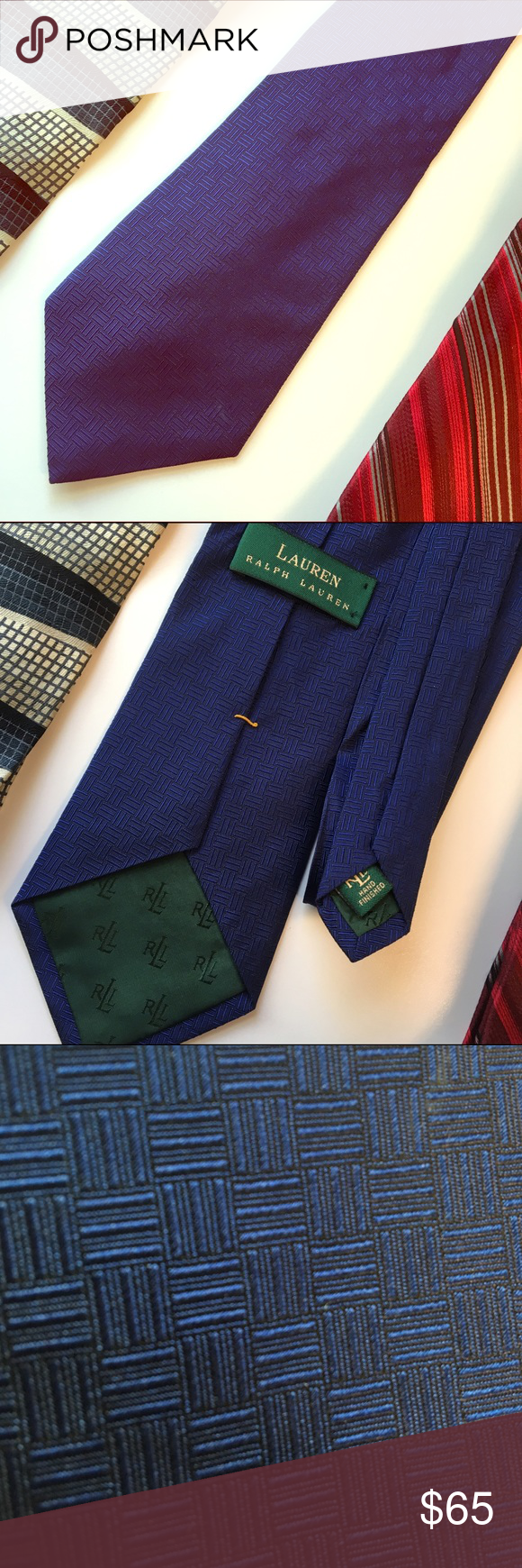 Lauren Ralph Lauren Silk Textured Tie Classic style in Navy. Textured design. Hand finished. Beautifully made. 100% Silk. Like new! ⚓️The Captain's Quarters; A Voyage Through Menswear⚓️ 👔👔10% OFF 2/15% OFF 3+ ITEM BUNDLE ⚓️👗You May Bundle w/@fababscloset 😊PLEASE USE OFFER BUTTON ❌NO PP, TRADES, HOLDS❌  👍🏻ITEMS ALWAYS 100% AUTHENTIC 🏄🏼SUGGESTED USER🏄🏼 Lauren Ralph Lauren Accessories Ties