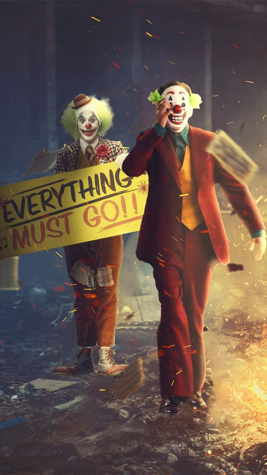 Joker Clowns Everything Must Go Iphone Wallpaper Joker Hd