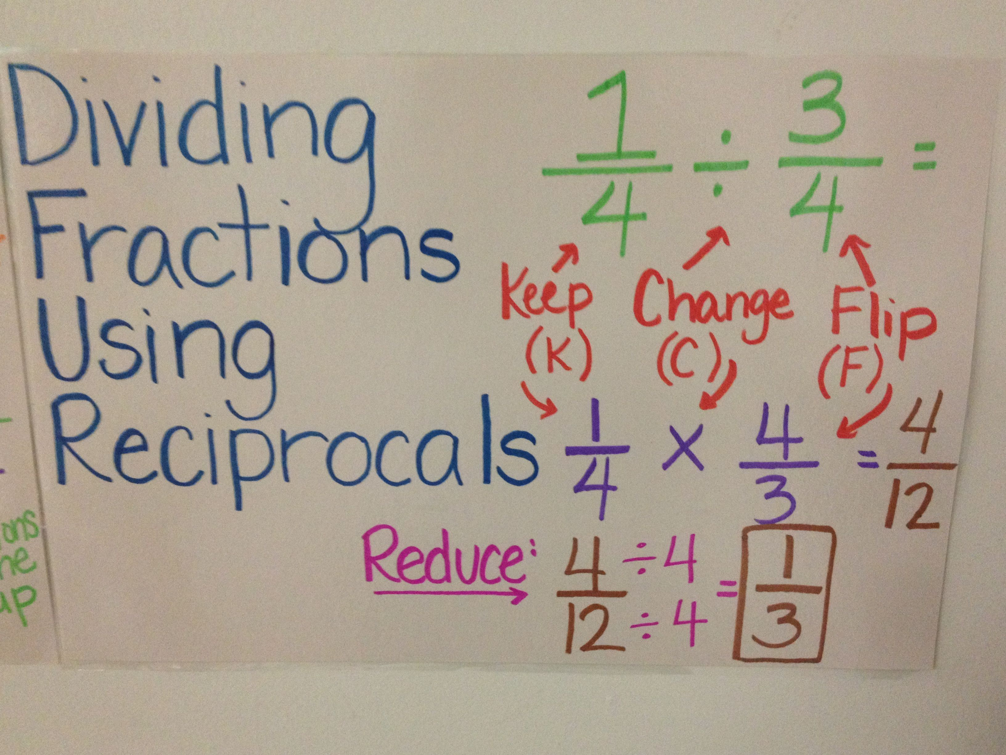 Dividing Fractions Common Core Worksheet