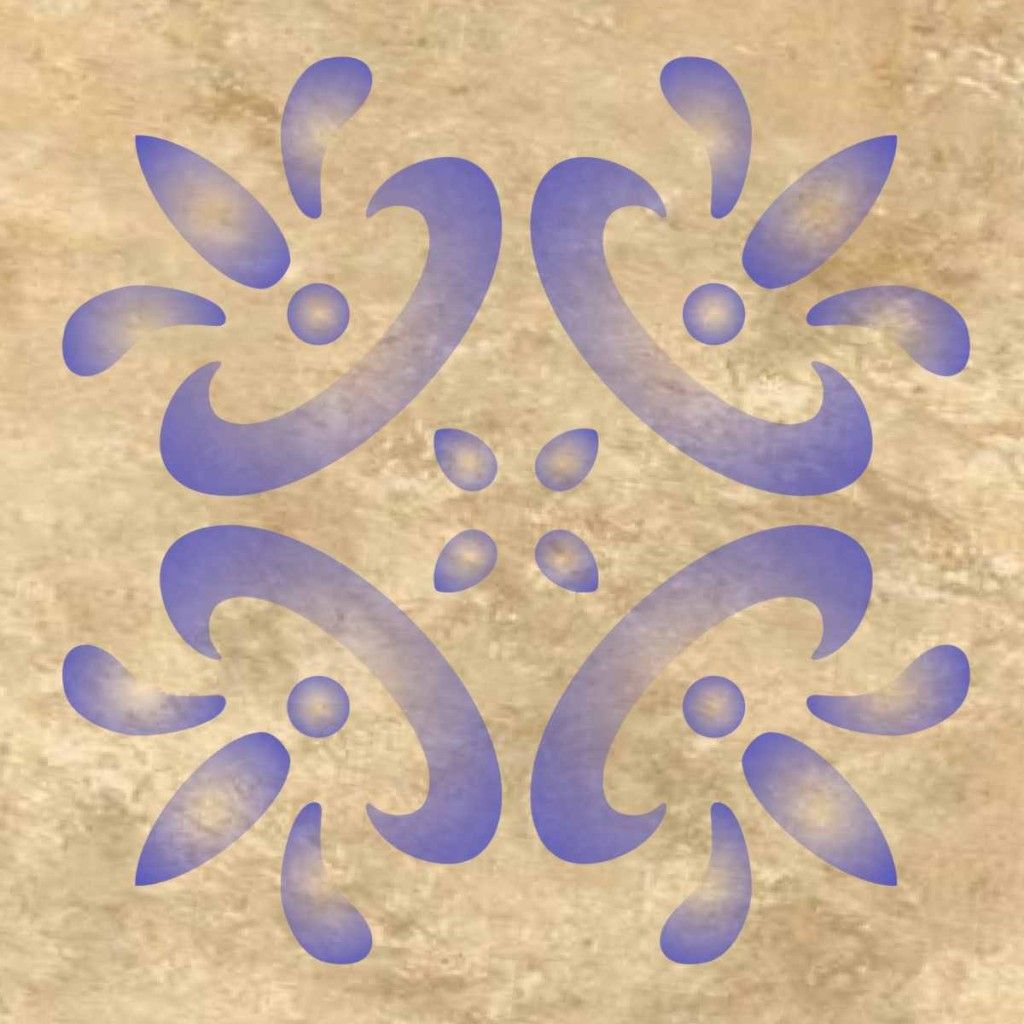 Mexican tile design wall pattern stencil multiple sizes small to mexican tile design wall pattern stencil multiple sizes small to large 0296a amipublicfo Image collections