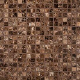 Dark Emperador Marble Polished 5/8x5 Mosaic Backsplash Tile