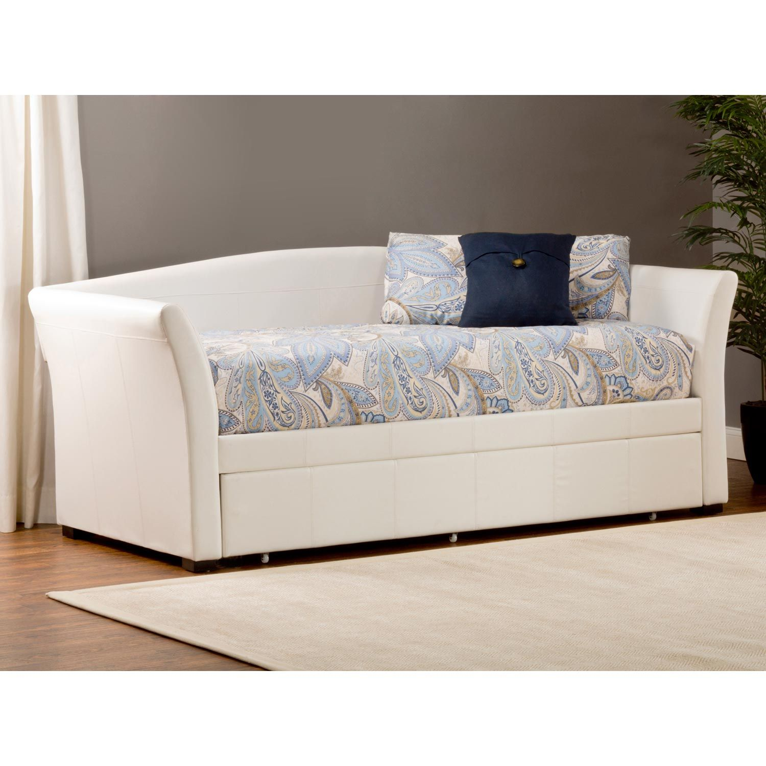Montgomery Upholstered Daybed Amp Trundle White Palm