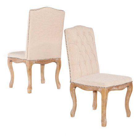 Portsmouth Linen Square Back Chair, Brown