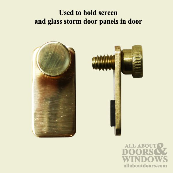 Storm Door Clip Flat W Thumb Screw Solid Brass All About