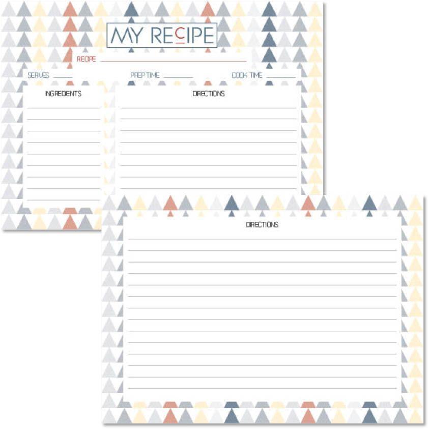 fiche recette recto verso imprimable a6 printable recipe card de
