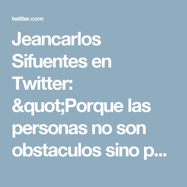 """Jeancarlos Sifuentes en Twitter: """"Porque las personas no son obstaculos sino puentes, #Jesus cree en ti! #Bendiciones."""""""