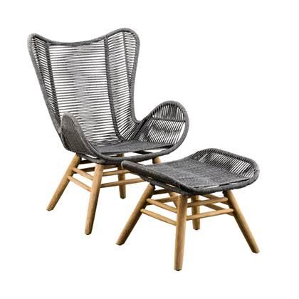 Loungestoel En Hocker.Suns Kreta Loungestoel Met Hocker In 2019 Products Loungestoel