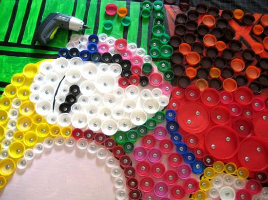 Craft Ideas Using Bottle Caps Craft Using Recycled Materials