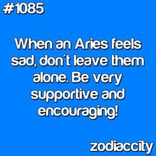 When an #aries feels #sad, don't leave them alone... http://horoscope-daily-free.net/Aries_Daily_Horoscope_Free.html