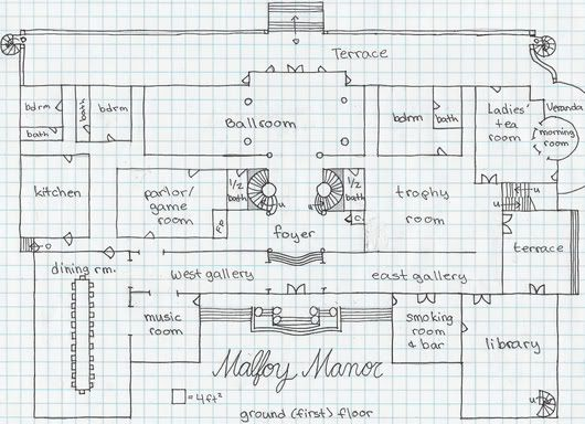 Malfoy manor floor plan images for 12 grimmauld place floor plan