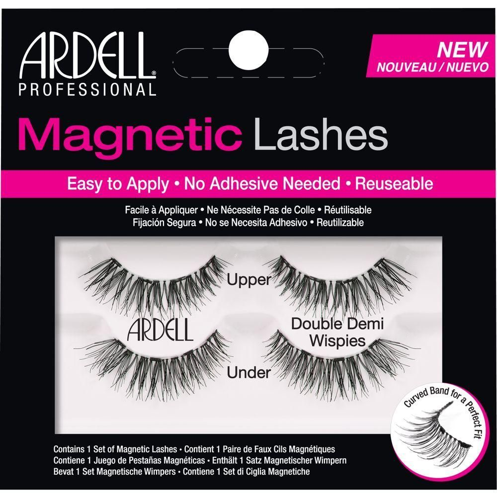 5e43747e1b3 Ardell Magnetic Double Demi Wispies Lashes. The reusable lashes are easy to  apply with no adhesive necessary. Pre-curved band creates a perfect fit to  ...