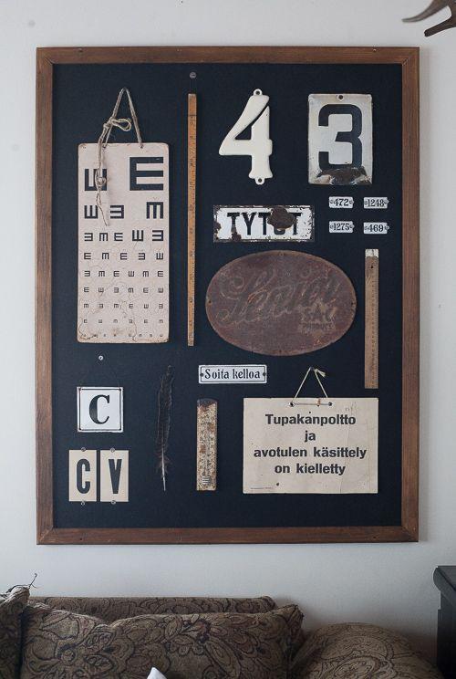 Diagnoosi:sisustusmania- use pegboard or cork board