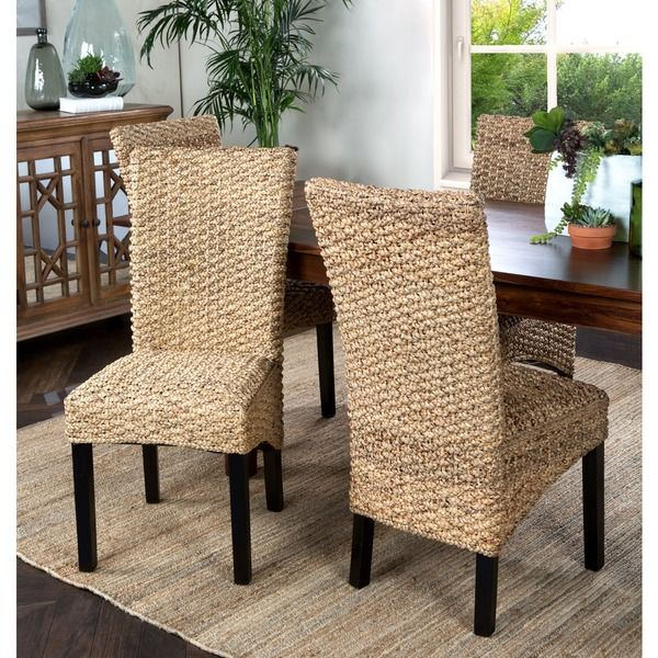 ... Designed With An Exotic Flair, The Lambada Mahogany Chair Adds A  Festive Feeling To Your Dining Room. The Woven Seat And Backrest Of This Hyacinth  Chair ...