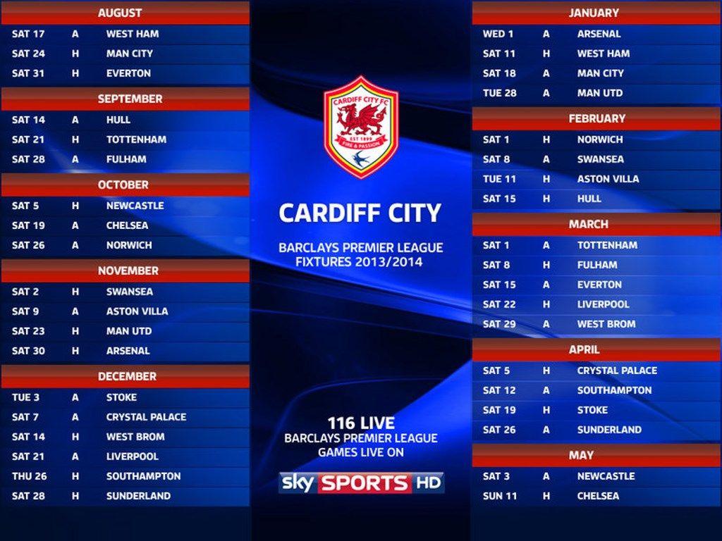 Man City Fixtures: Cardiff City Fixtures 2013-2014 Wallpaper