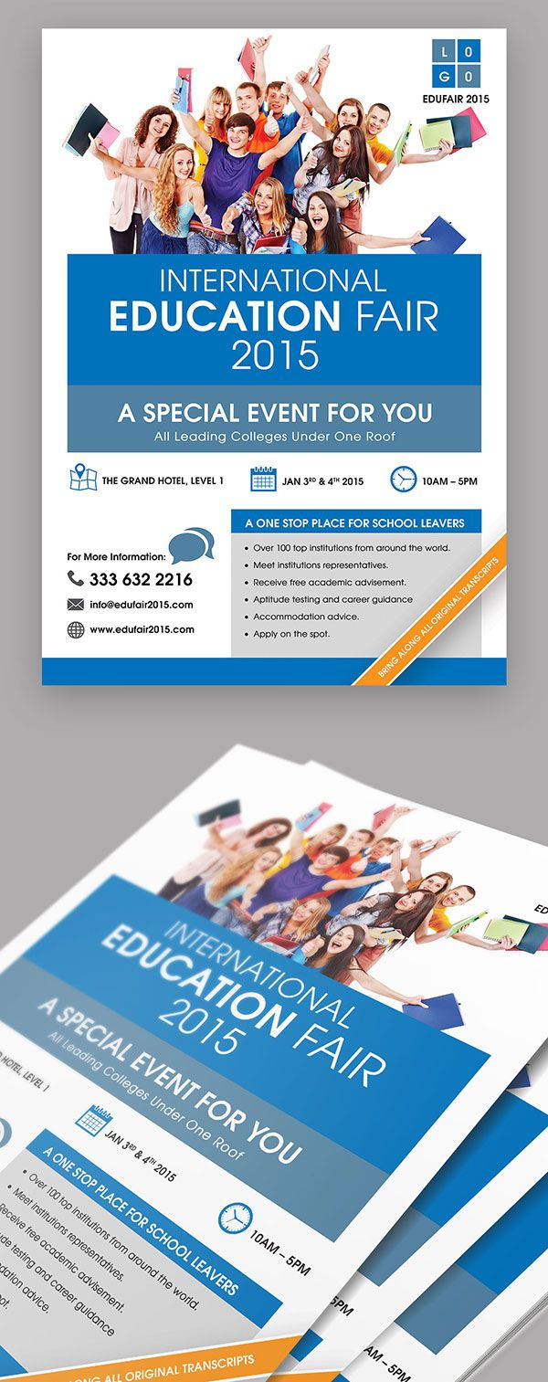 Education Fair Event Flyer | Event flyers, Flyer template and Behance