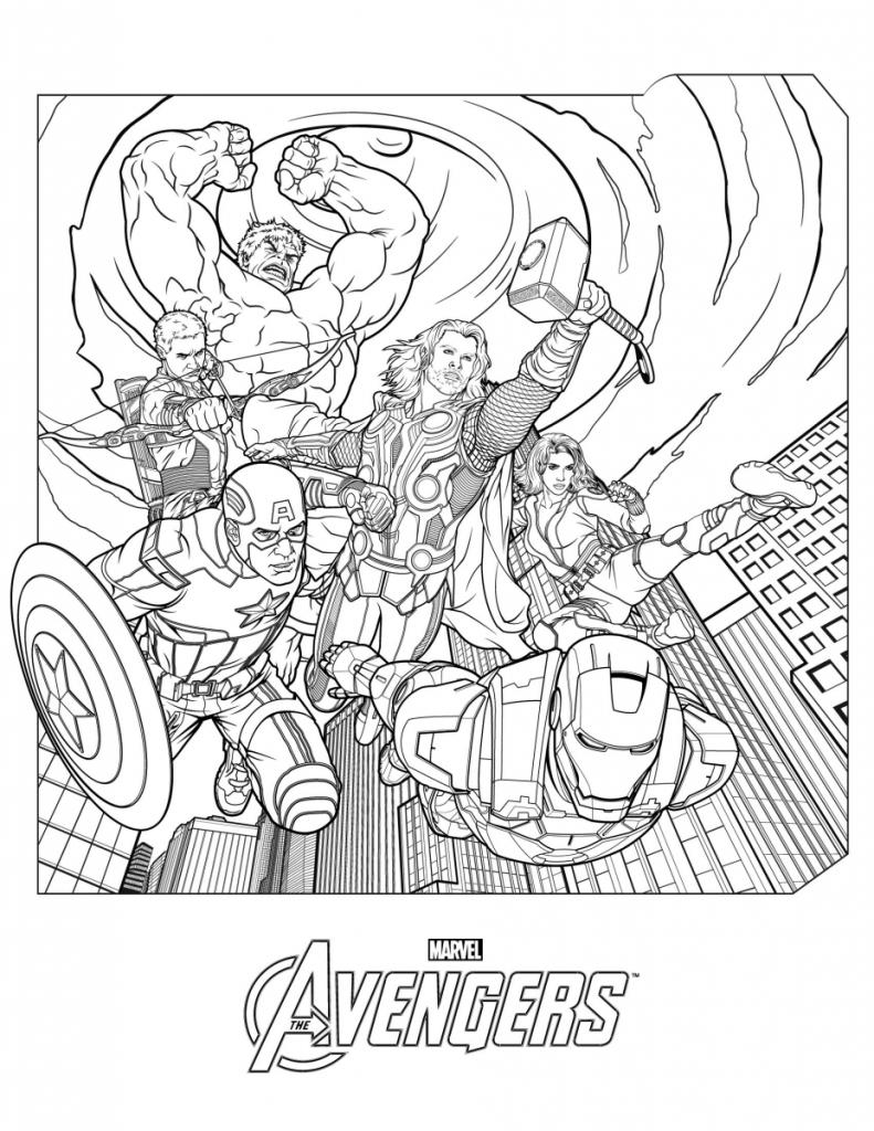 Avengers Colouring Tin
