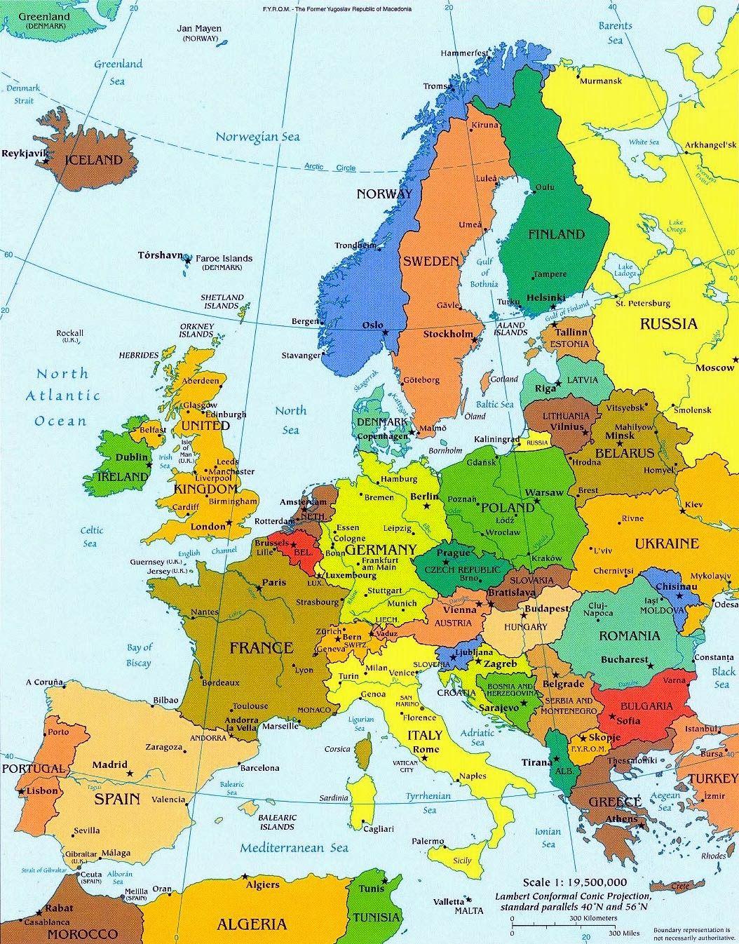 Landkaart Europa Google Zoeken Europe Map Political Map
